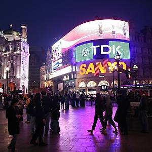 Reklamy na Piccadilly Circus